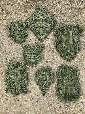 Green Man wall plaques  stone home garden ornaments