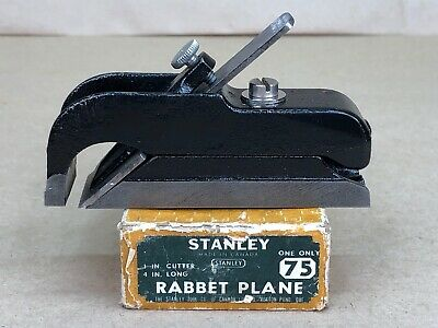 Stanley No.75 Rabbet Plane with Original Box Made in Canada Bull Nose Plane