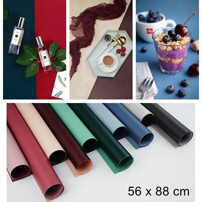 Dual Double Backdrop Paper Food Product Ins Photo Background Prop 1.8x3ft 【UK】