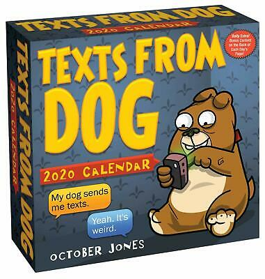 Texts From Dog - 2020 Daily Desk Calendar - Brand New - Humor Funny 498795