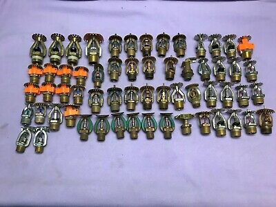 Huge Lot of Fire Sprinkler Heads Viking, Star, Reliable, Rasco, Tyco, & More