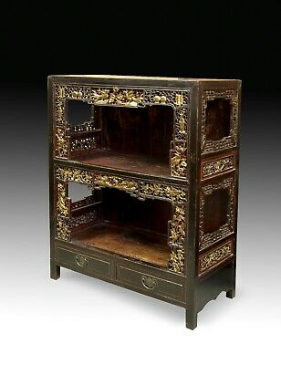 Oriental Cabinet, Wood, Metal, circa Late 19th Century