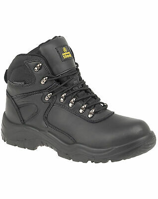 Amblers AS803 S3 black EE wide fit waterproof safety boot with midsole size 7-12