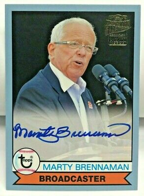 Marty Brennaman 2017 Topps Archives LIGHT BLUE Autograph Auto #d/75 - HOF - REDS