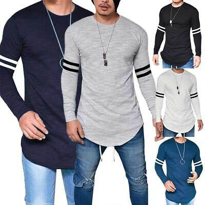 Men's Long Sleeve Blouse Tops T-Shirt Basic Crew Neck Slim Fit Muscle Clothing