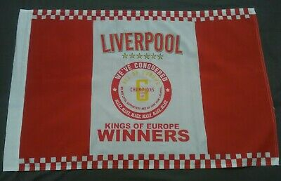Liverpool Champions League  Winners Flag..kings Of Europe 6 Times..new