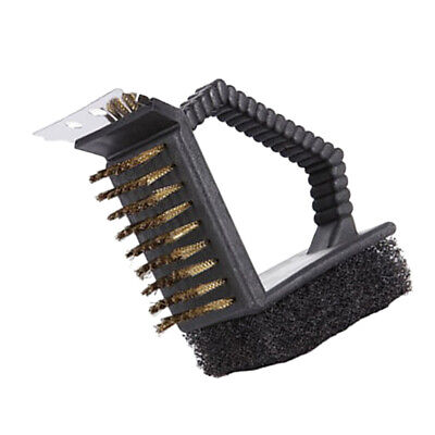 3-In-1 Barbecue BBQ Brush Tool Cleaning Brush Camping Grill Cleaners Scourer