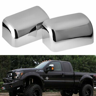 For 2008-2016 Ford F250 F350 F450 F550 Top Half Chrome Mirror Covers Towing