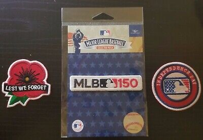 MLB Lest We Forget Patch +150th + Independence Day 2019 baseball jersey patch