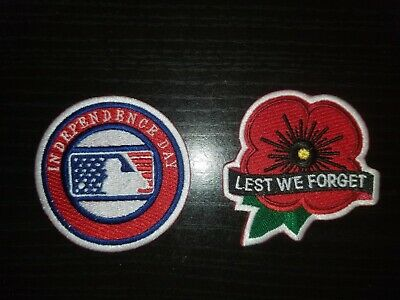MLB Lest We Forget Patch + Independence Day 2019 jersey patch ALL MLB Teams wore