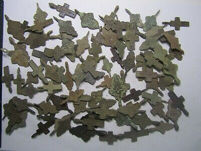 Metal detector finds.Mix lot ancient crosses (18-19 th century) 100 pieces.