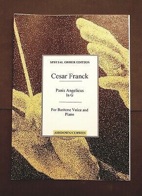 Cesar Franck: Panis Angelicus In G for Baritone Voice and Piano (Sheet Music)
