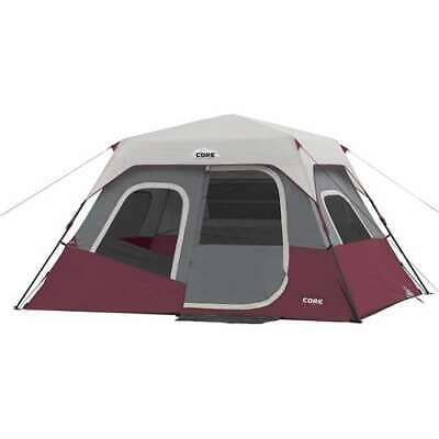 CORE Cabin 11 x 9 Foot 6 Person Cabin Tent with Air Vents and Loft, Red (Used)