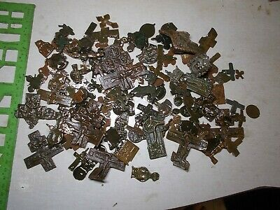 Metal detector finds.Mix lot (14-18 th century) 140 Fragments of ancient crosses
