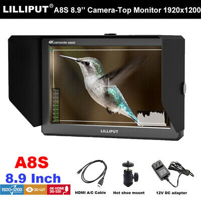 Lilliput A8s On-camera Video Field Monitor LCD HD 3G HDMI for DSLR Camera Video