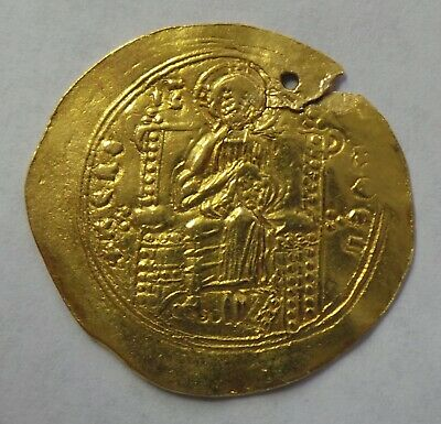 John II Comnenus 1118-1143AD Ancient Gold Byzantine Coin Jesus Christ Mary