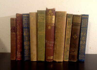Lot of 10 Vintage Decorative Books Antique Decor Library Display