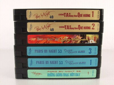 Paris By Night VHS Tapes Lot of 6 Videos 63 56 53 49 Asian Music Television