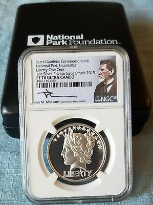 2019 Saint-Gaudens LAST COIN National Park Foundation NGC PF70 Liberty One Cent