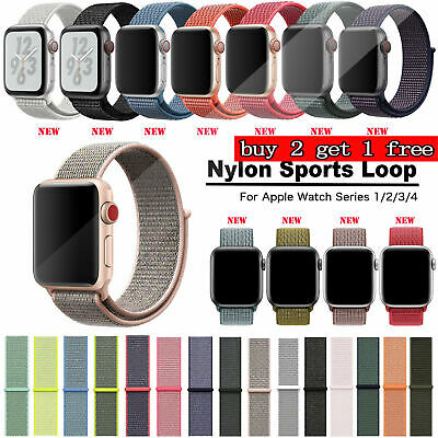 38/42/40/44mm Nylon Sport Loop iWatch Armband für Apple Watch Serie 4 3 2 1 GBN