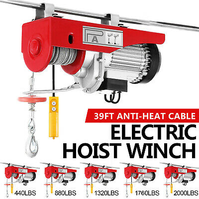 100kg~900kg Electric Hoist Winch Lifting Engine Crane Automotive Steel Garage