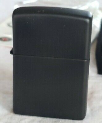 Zippo Black Matte WindProof Lighter Model k18 New No Case