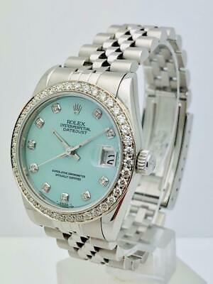 Estate ~ Rolex 31mm MIDSIZE 14k Gold & SS Datejust 68240 Diamond Mother of Pearl