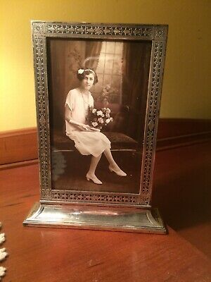 Antique Tiffany & Co Art Deco sterling silver picture frame Two Sided