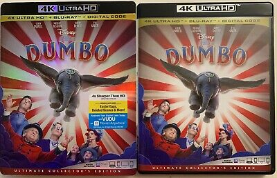 Disney Dumbo 2019 4K Ultra Hd Blu Ray 2 Disc Set + Slipcover Sleeve Collectors