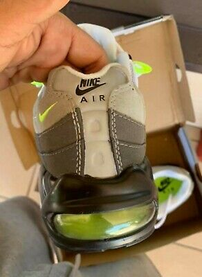 MEN'S NIKE AIR Max 95 OG Neon Shoes 554970 071 Silver Grey