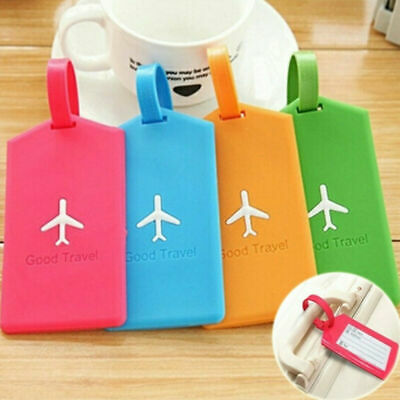 New Travel Bag Luggage Tag Silicone Name Address ID Label Suitcase Baggage Tags