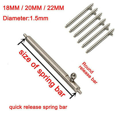 10X Spring Bar Pins Watchmakers Tool Link Remover Wrist Watch Band Strap Repair