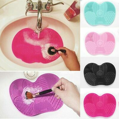 Silicone Makeup Brush Cleaners Pad Mat Washing Cleaning Scrubber Board Hot