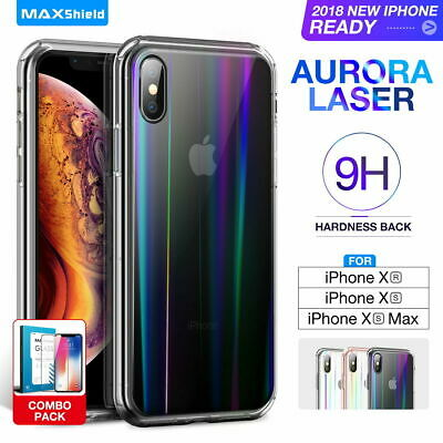 iPhone X XS Max XR 8 Case Clear Heavy Duty Shockproof Slim Cover+Tempered Glass