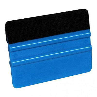 10*7.3cm Squeegee Scraper Blue Plastic Felt Auto Window Glass Practical