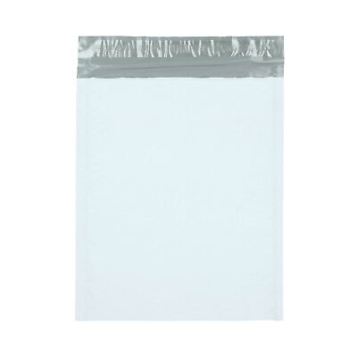 "Poly Bubble Mailer (#4) 9.5"" x 14.5"" White/Grey Padded Self Seal Bags 100 Pieces"