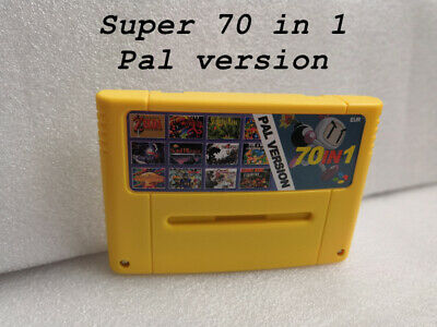 Super 70 in 1 Super Nintendo SNES Multi Cart Game Cartridge Eur PAL English