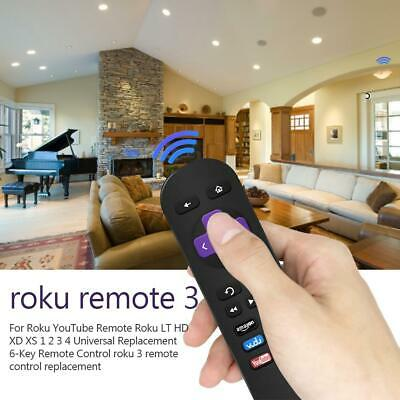 New Replacement Remote Control for Roku 1 2 3 4 Express Premiere Ultra 6-Key