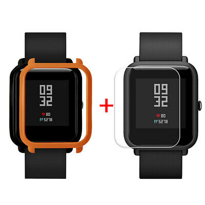 Case Cover Shell For Xiaomi Huami Amazfit Bip Youth Watch with Screen Protector!