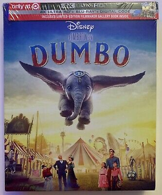 New Disney Dumbo 2019 4K Ultra Hd Bluray Digital 2 Disc Target Exclusive Digipac