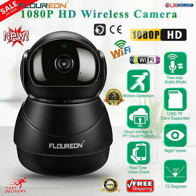 1080P HD Wireless Wifi IP CCTV Camera IR Security Webcam Monitor CAM Pan Tilt UK