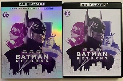 Dc Batman Returns 4K Ultra Hd Blu Ray 2 Disc Set + Slipcover Sleeve 30Th Anniver