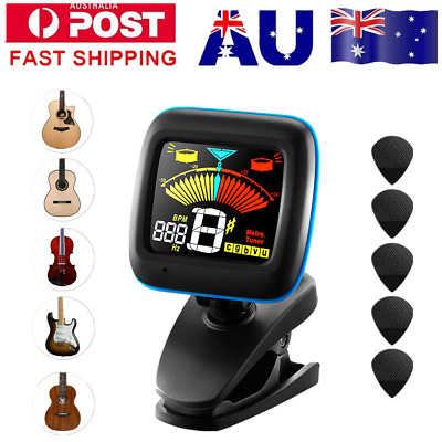 Electronic Digital Clip-on Guitar Chromatic Tuner for Ukulele Violin Bass Metron