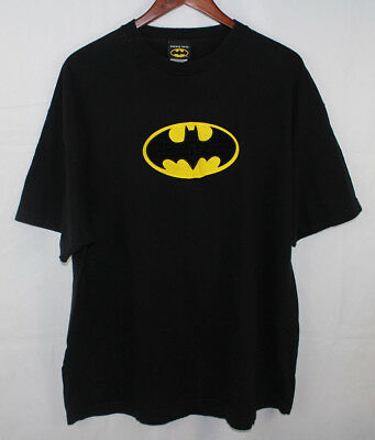 Vintage Warner Bros DC Comics Batman Black Batman Symbol Graphic T Shirt Sz XXL