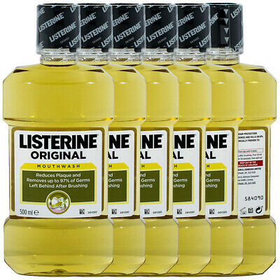 Listerine Original Antibacterial Oral & Dental Care Fresh Breath Mouthwash 500ml