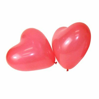 "100 PCS 12"" Red Heart Love Latex Wedding Birthday Party Valentine's Day M4W5"