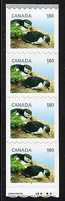 2014 Canada SC#2713 Baby Wildlife Atlantic Puffin starter strip of 4 # C608 M-NH