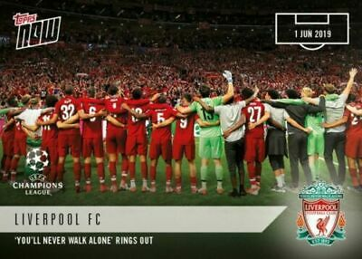 Topps Now 2019 Champions League Final You'll Never Walk Alone Liverpool No 66