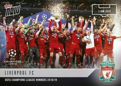 Topps Now 2019 Champions League Final Winners Liverpool No 67