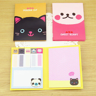 Portable Cute Cartoon Kraft Paper Notepad Memo Diary Notebook Exercise Book